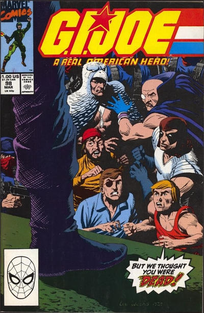 Cover for G.I. Joe, A Real American Hero (Marvel, 1982 series) #98 [Direct Edition]