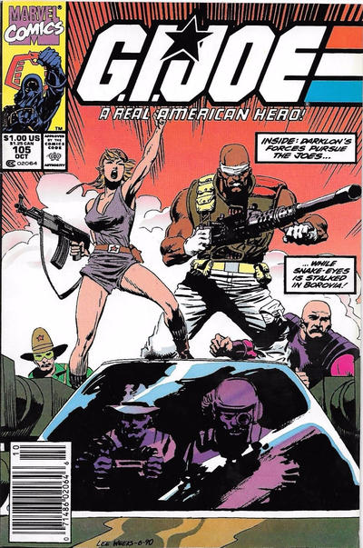 Cover for G.I. Joe, A Real American Hero (Marvel, 1982 series) #105 [Direct Edition]