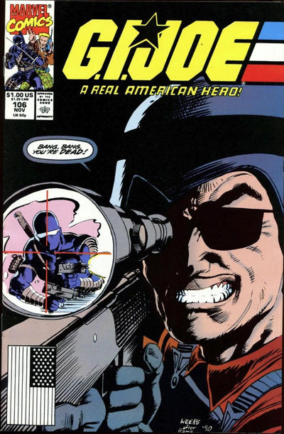 Cover for G.I. Joe, A Real American Hero (Marvel, 1982 series) #106 [Direct Edition]