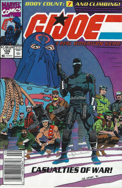 Cover for G.I. Joe, A Real American Hero (Marvel, 1982 series) #109 [Direct Edition]