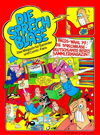 Cover for Die Sprechblase (Norbert Hethke Verlag, 1978 series) #24