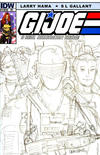 Cover Thumbnail for G.I. Joe: A Real American Hero (2010 series) #180 [Cover RI - Incentive Larry Hama Sketch Variant]