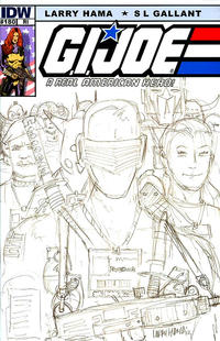 Cover Thumbnail for G.I. Joe: A Real American Hero (IDW, 2010 series) #180 [Cover RI - Incentive Larry Hama Sketch Variant]