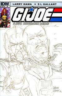 Cover Thumbnail for G.I. Joe: A Real American Hero (IDW, 2010 series) #181 [Cover RI - Incentive Larry Hama Sketch Variant]