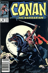 Cover for Conan the Barbarian (Marvel, 1970 series) #202 [Direct]