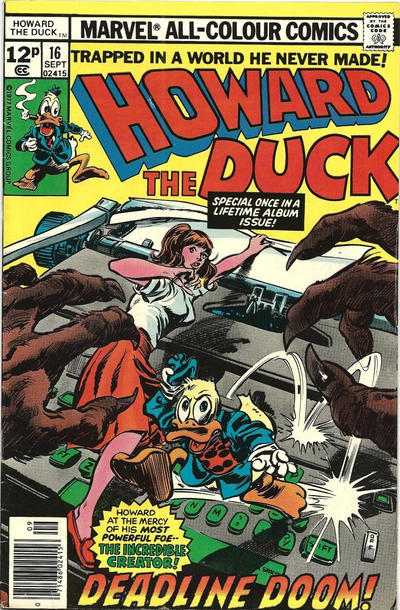 Cover for Howard the Duck (Marvel, 1976 series) #16 [30¢ Cover Price]
