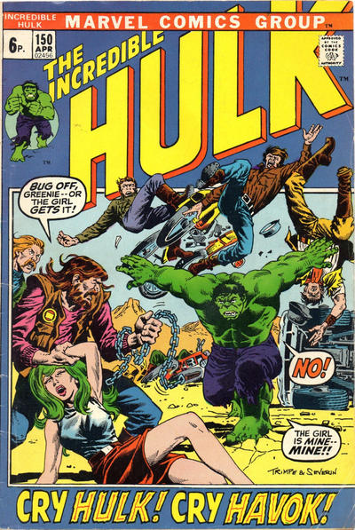 Cover for The Incredible Hulk (Marvel, 1968 series) #150 [Regular Edition]
