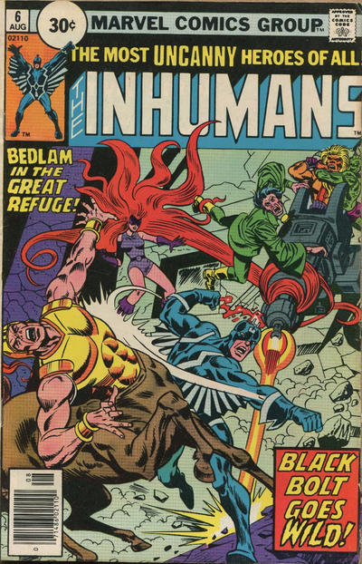 Cover for The Inhumans (Marvel, 1975 series) #6 [British Price Variant]