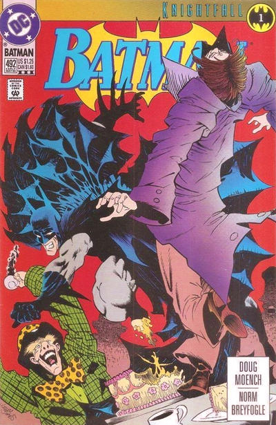 Cover for Batman (DC, 1940 series) #492 [Newsstand Variant]