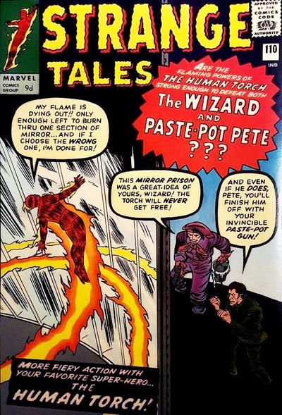 Cover for Strange Tales (Marvel, 1951 series) #110