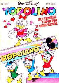 Cover Thumbnail for Topolino (The Walt Disney Company Italia, 1988 series) #1921
