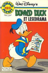 Cover Thumbnail for Donald Pocket (Hjemmet / Egmont, 1968 series) #123 - Et lesedrama [Reutsendelse]
