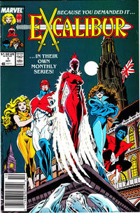 Cover Thumbnail for Excalibur (Marvel, 1988 series) #1 [Newsstand]