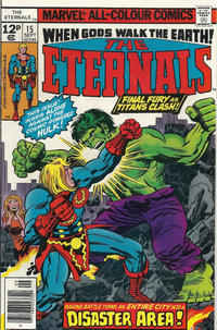 Cover for The Eternals (Marvel, 1976 series) #15 [35¢ Price Variant]