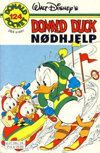 Cover Thumbnail for Donald Pocket (Hjemmet / Egmont, 1968 series) #124 - Donald Duck Nødhjelp [1. opplag]