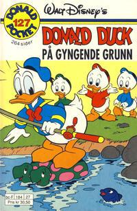 Cover Thumbnail for Donald Pocket (Hjemmet / Egmont, 1968 series) #127 - Donald Duck på gyngende grunn [1. opplag]