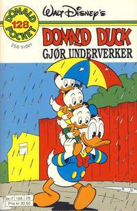 Cover Thumbnail for Donald Pocket (Hjemmet / Egmont, 1968 series) #128 - Donald Duck gjør underverker [1. opplag]