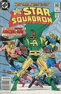 Cover for All-Star Squadron (DC, 1981 series) #23 [Newsstand]