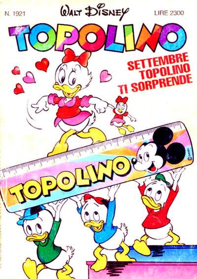 Cover for Topolino (The Walt Disney Company Italia, 1988 series) #1921
