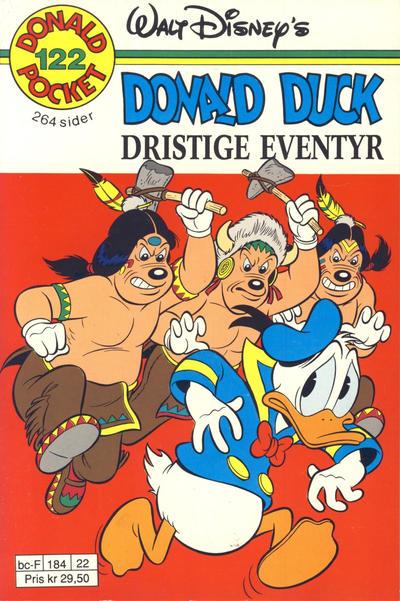 Cover for Donald Pocket (Hjemmet / Egmont, 1968 series) #122 - Donald Duck Dristige eventyr [1. opplag]