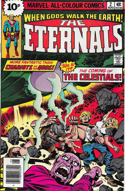 Cover for The Eternals (Marvel, 1976 series) #2 [25¢ Cover Price]