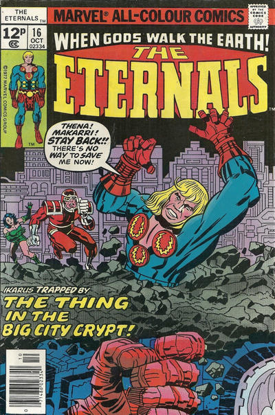 Cover for The Eternals (Marvel, 1976 series) #16 [30¢ Cover Price]
