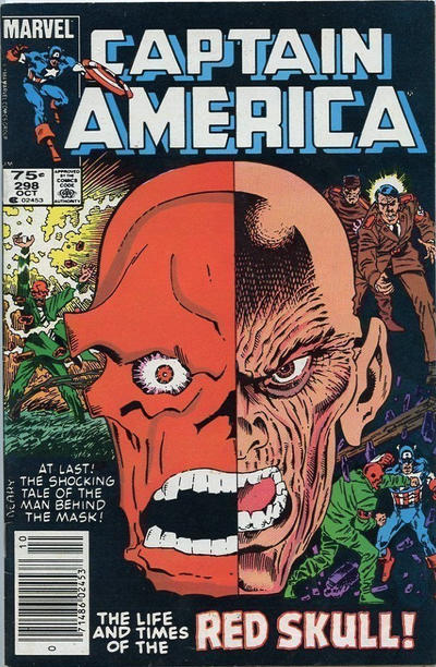 Cover for Captain America (Marvel, 1968 series) #298 [Newsstand Edition]