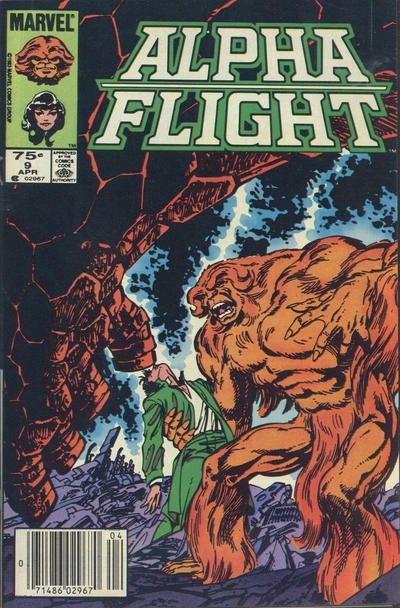 Cover for Alpha Flight (Marvel, 1983 series) #9 [Newsstand Edition]