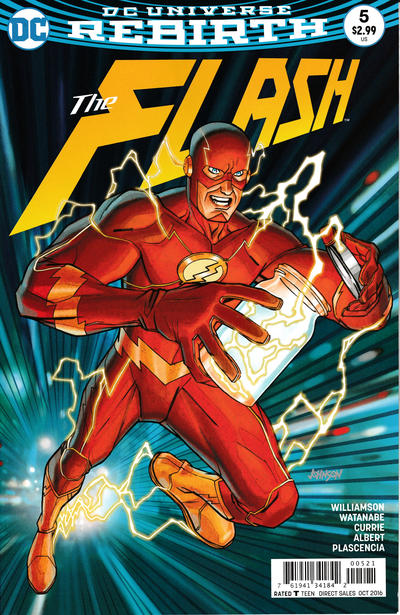 Cover for The Flash (DC, 2016 series) #5 [Carmine Di Giandomenico Cover]
