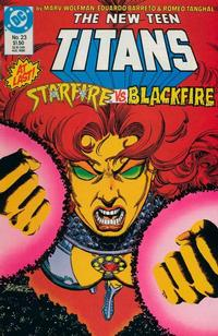 Cover Thumbnail for The New Teen Titans (DC, 1984 series) #23