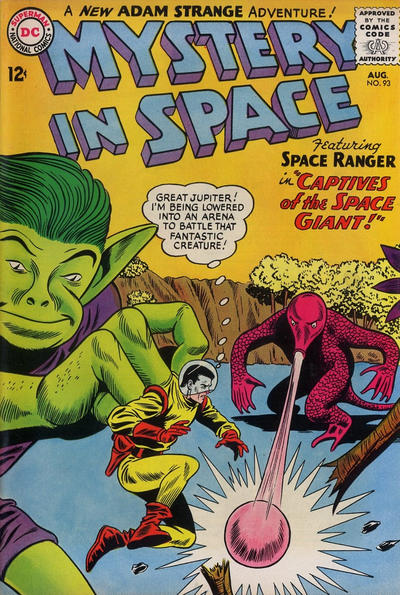 Cover for Mystery in Space (DC, 1951 series) #93