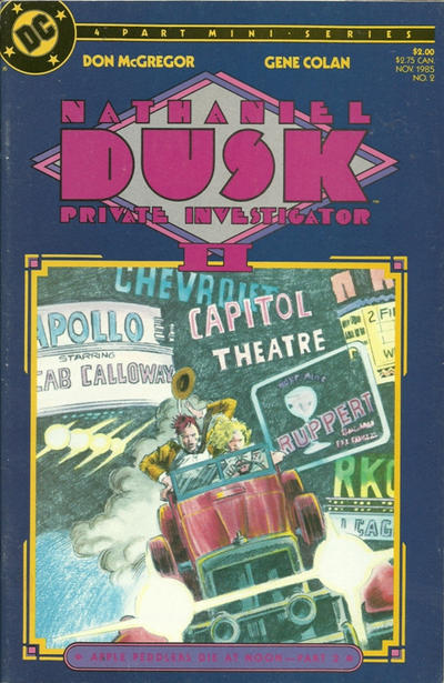 Cover for Nathaniel Dusk II (DC, 1985 series) #2