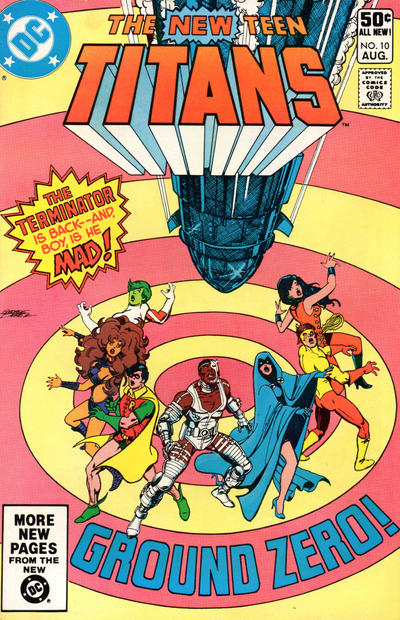 Cover for The New Teen Titans (DC, 1980 series) #10 [Direct]