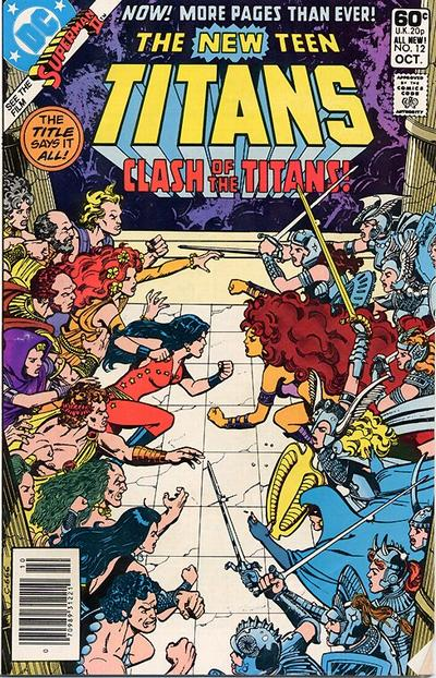 Cover for The New Teen Titans (DC, 1980 series) #12 [Newsstand]