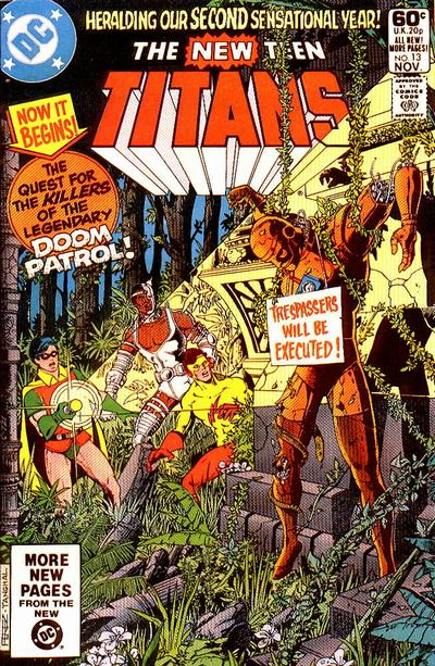 Cover for The New Teen Titans (DC, 1980 series) #13 [Newsstand]