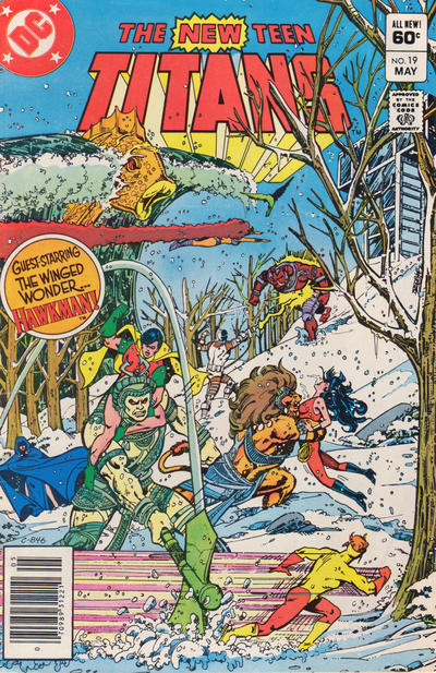 Cover for The New Teen Titans (DC, 1980 series) #19 [Direct]
