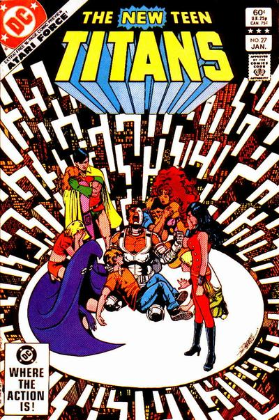 Cover for The New Teen Titans (DC, 1980 series) #27 [Direct Sales]