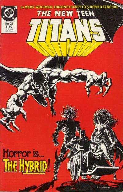 Cover for The New Teen Titans (DC, 1984 series) #24