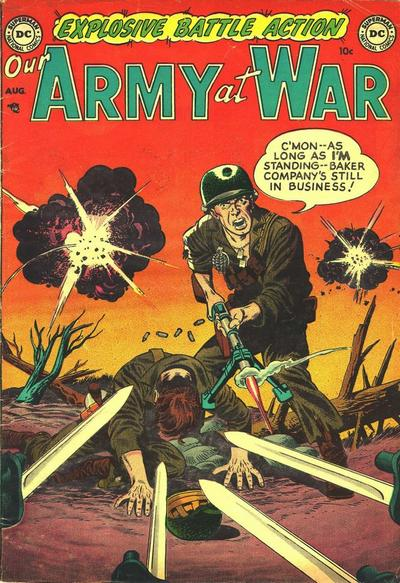 Cover for Our Army at War (DC, 1952 series) #1