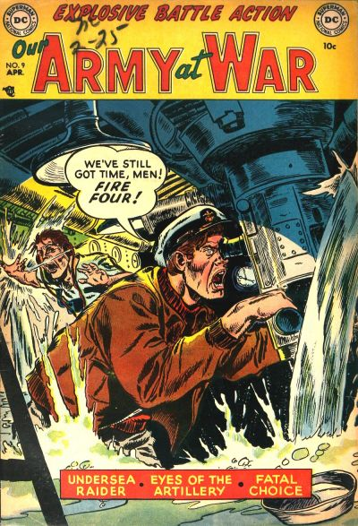 Cover for Our Army at War (DC, 1952 series) #9
