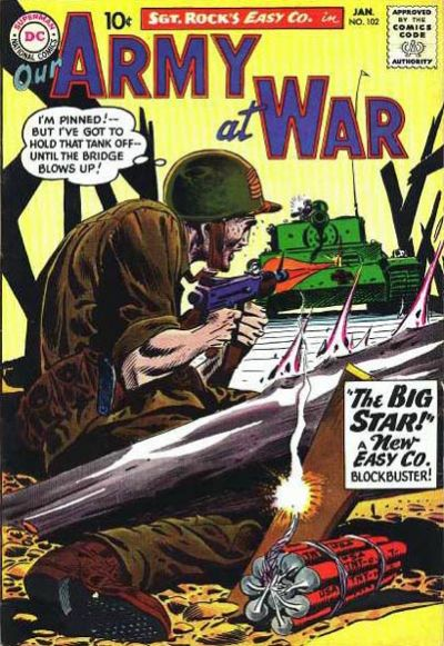 Cover for Our Army at War (DC, 1952 series) #102