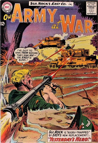 Cover for Our Army at War (DC, 1952 series) #133
