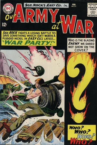 Cover for Our Army at War (DC, 1952 series) #151