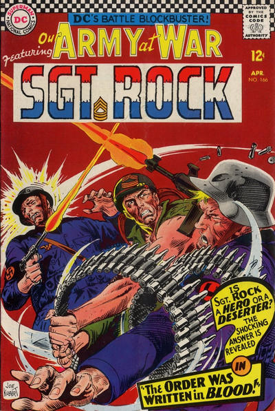 Cover for Our Army at War (DC, 1952 series) #166