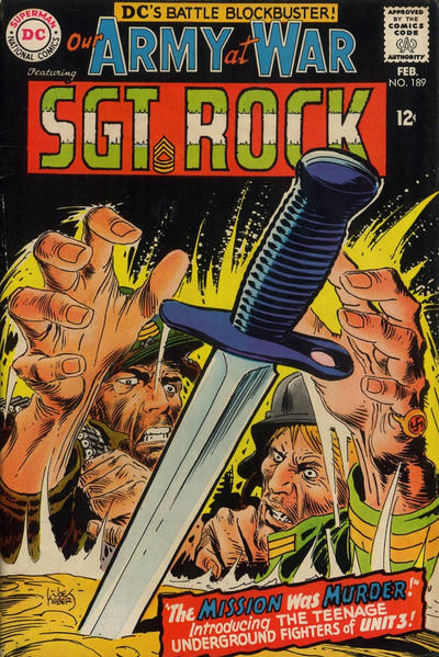 Cover for Our Army at War (DC, 1952 series) #189