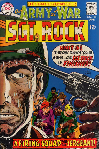 Cover for Our Army at War (DC, 1952 series) #192