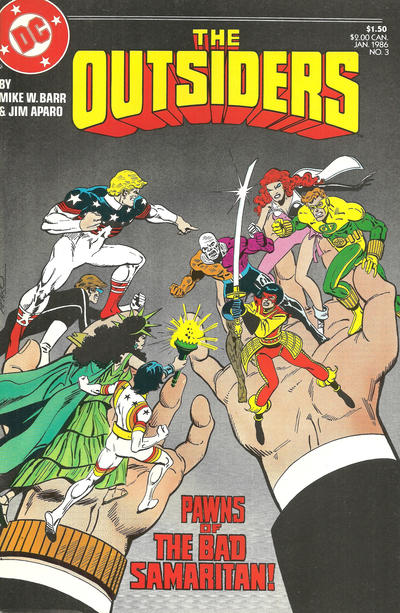 Cover for The Outsiders (DC, 1985 series) #3