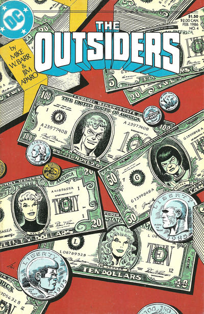 Cover for The Outsiders (DC, 1985 series) #4