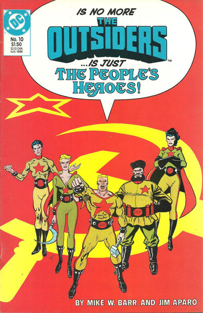 Cover for The Outsiders (DC, 1985 series) #10