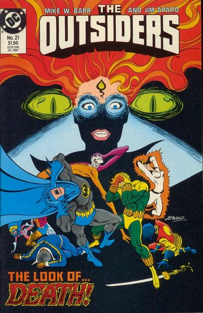 Cover for The Outsiders (DC, 1985 series) #21